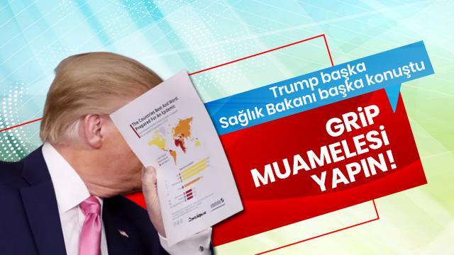 """Trump'tan  Kovid-19'a """"grip"""" muamelesi yapın çağrısı!"""