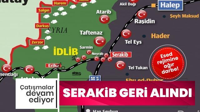 Esed rejimine ağır darbe! Serakib kasabası geri alındı