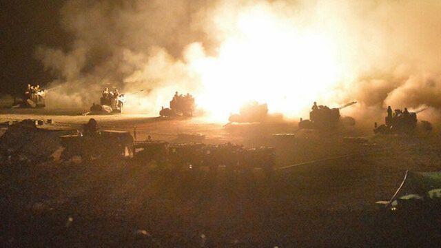 İdlib'de alçak saldırı sonrası rejim hedefleri ateş altına alındı