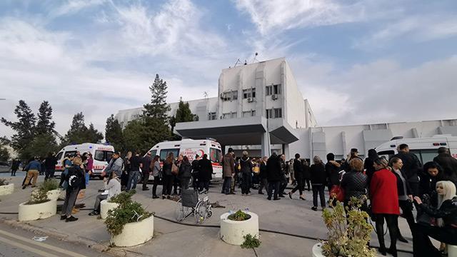 Lefkoşa Devlet Hastanesi'nde yangın çıktı