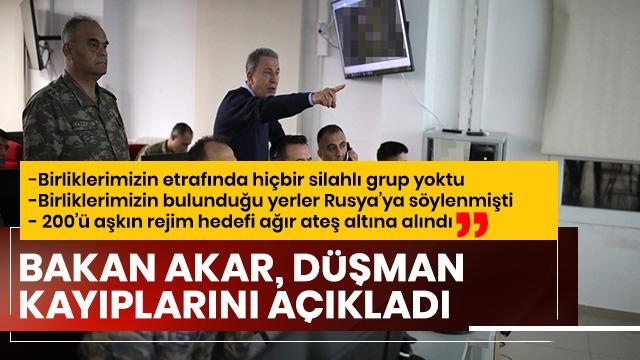 """""""200'ü aşkın rejim hedefi ağır ateş altına alındı"""""""