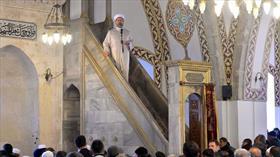 Diyanet İşleri Başkanı Erbaş'tan, Hatay'da 'Hak uğrunda mücadele' konulu hutbe