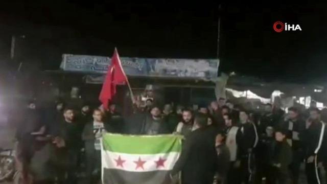 Halep'te Mehmetçik için destek gösterisi düzenlendi