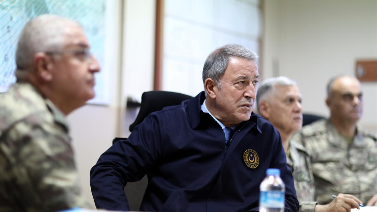 Milli Savunma Bakanı Hulusi Akar ve Kuvvet Komutanları sıfır noktasında