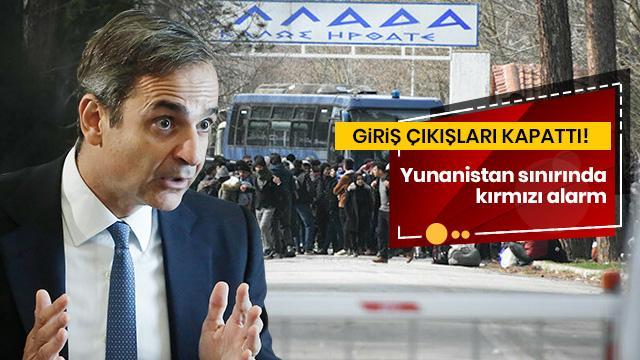 Yunanistan'da sınırda kırımızı alarm! Güvenlik sayısı artırıldı