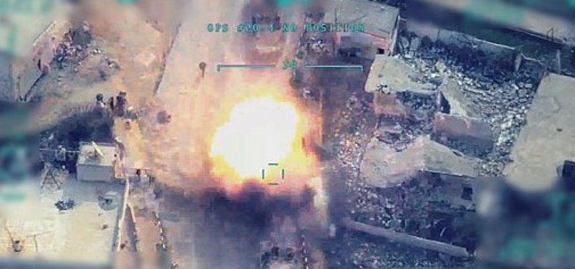İdlib'deki alçak saldırı sonrası Esed rejimine ait tüm hedefler yoğun ateş altına alındı