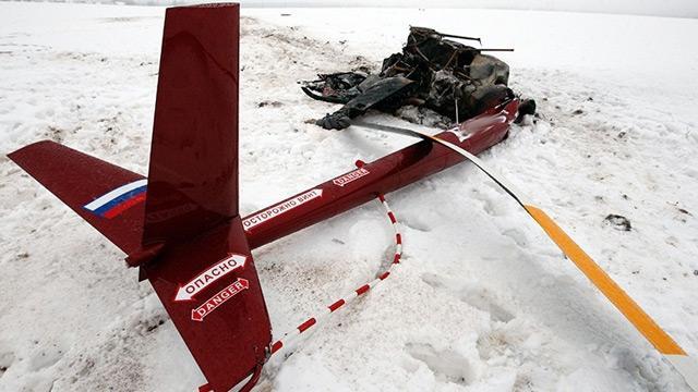 Rusya'da helikopter dağlık alana düştü
