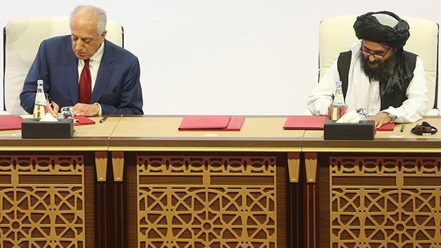ABD ile Taliban, Afganistan'da barış sürecini başlatması beklenen anlaşmayı imzaladı