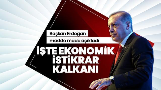 Koronavirüse karşı Ekonomik İstikrar Kalkanı! Cumhurbaşkanı Erdoğan maddeleri açıkladı