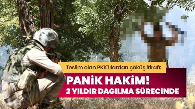 Teslim olan 2 terörist itiraf etti: PKK 2 yıldır dağılma sürecinde