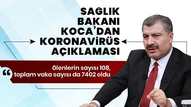 Türkiye'de koronavirüs nedeniyle hayatını kaybedenlerin sayısı 108 oldu