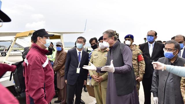 Çin'den koronavirüs salgınıyla mücadelede Pakistan'a 8 doktor ve tıbbi malzeme yardımı