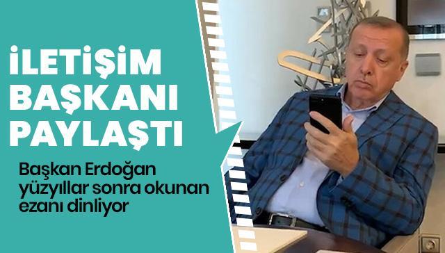 Başkan Erdoğan, Granada'da okunan ezanı dinledi