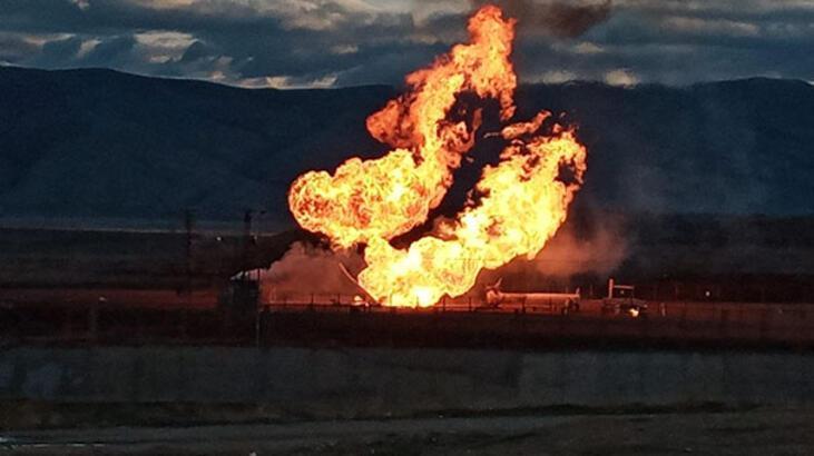 Ağrı - Gürbulak Sınır Kapısı'nda doğal gaz boru hattında patlama