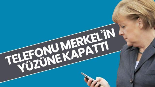 Telefon şakası sandı Merkel'in yüzüne kapattı