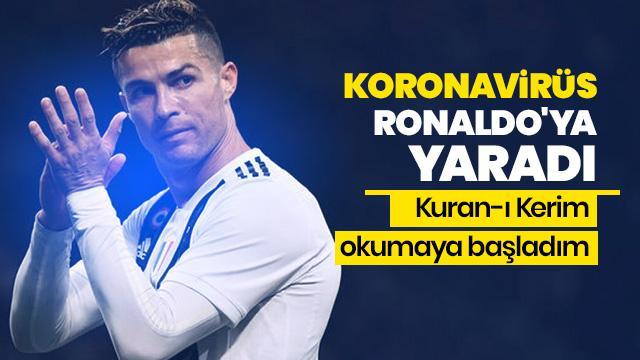 Koronavirüs Cristiano Ronaldo'ya yaradı
