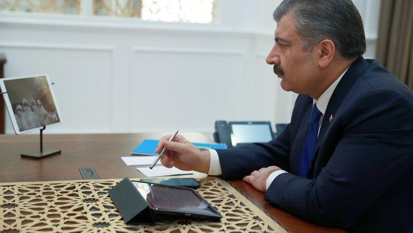 Sağlık Bakanı Koca, koronavirüs hastalarını tedavi eden hekimlerle görüştü: Sağlık çalışanlarımız, en büyük gücümüz