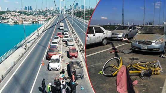 Bugün 15 Temmuz Şehitler Köprüsü'nde çekildi!