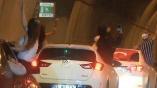 Kağıthane'de asker uğurlamasında tüneli kapatan 4 kişi gözaltına alındı