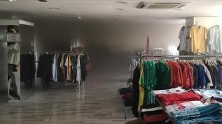 Bilecik'te alışveriş merkezinde korkutan yangın