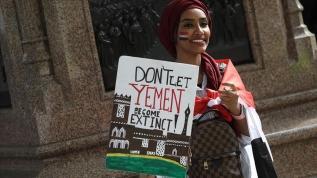 İngiltere'de Yemen protestosu