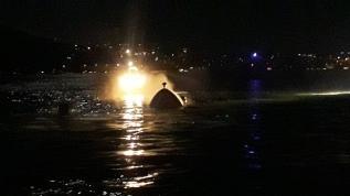 İstanbul Boğazı'nda tekne alev aldı, sahil güvenlik ekipleri söndürdü