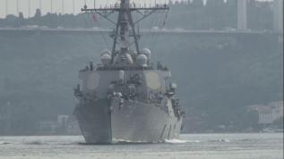 """ABD savaş gemisi """"USS Porter"""" İstanbul Boğaz'da"""