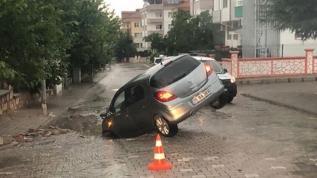 Nevşehir'i etkisi altına alan yağış kazaya sebebiyet verdi