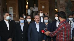 TBMM Başkanı Şentop, Hacı Bayram Veli Camii'nde sabah namazı kıldı