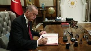 Cumhurbaşkanı Erdoğan'dan 10 kuruma atama