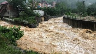 Trabzon'da şiddetli yağış heyelan ve taşkınlara yol açtı