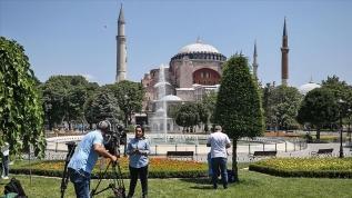 Ayasofya Camii'ne yerli ve yabancı medya ilgisi
