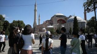 Ayasofya Camii'nin ibadete açılmasına vatandaşlarımızdan büyük ilgi