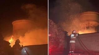 Eski depoda çıkan yangın kısa sürede söndürüldü