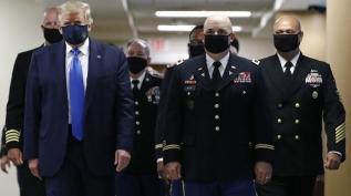 ABD Başkanı Trump aylar sonra ilk kez maskeli
