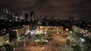 Binlerce İsrailli, katil Netanyahu hükümetini protesto etti