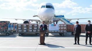 Kazakistan'a tıbbi yardım malzemeleri gönderdi