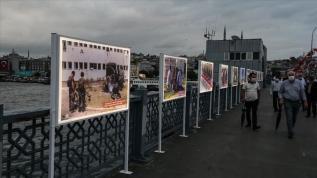 Galata Köprüsü'nde '15 Temmuz İstiklal Sergisi' açıldı