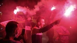 Başakşehir'in şampiyonluk kutlaması
