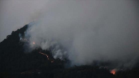 Manisa'daki orman yangını kısmen kontrol altına alındı