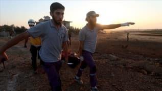 İdlib'e düzenlenen hava saldırılarında 3 sivil öldü