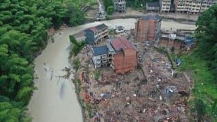 Çin'de Hagupit tayfunu nedeniyle 380 binden fazla kişi tahliye edildi