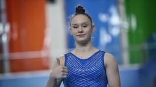 Milli cimnastikçi Nazlı Savranbaşı, yarışmaları bekliyor
