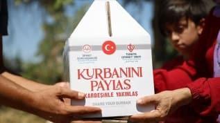 Türkiye Diyanet Vakfı'ndan ihtiyaç sahiplerine 557 bin 311 hisse kurban