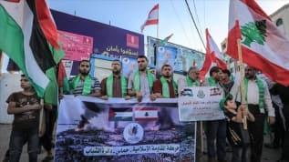 Abluka altındaki Gazze'den Lübnan'a 'Beyrut, güçlü ol' mesajı
