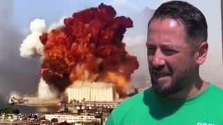 Beyrut'taki felaketten dakikalarla kurtuldu! 'İnsanlar yerlere yığıldı...'