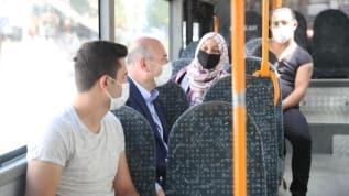 İçişleri Bakanı Süleyman Soylu, bakanlığa otobüsle gitti