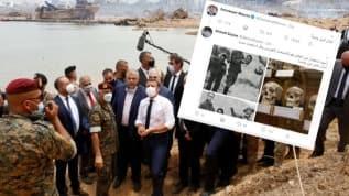 Macron'un Lübnan şovuna tokat gibi yanıt