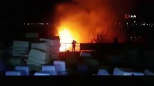 Palet fabrikasında çıkan yangın itfaiye ekipleri tarafından söndürüldü