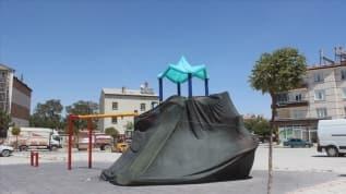Konya'da çocuk parkları koronavirüs nedeniyle kapatıldı